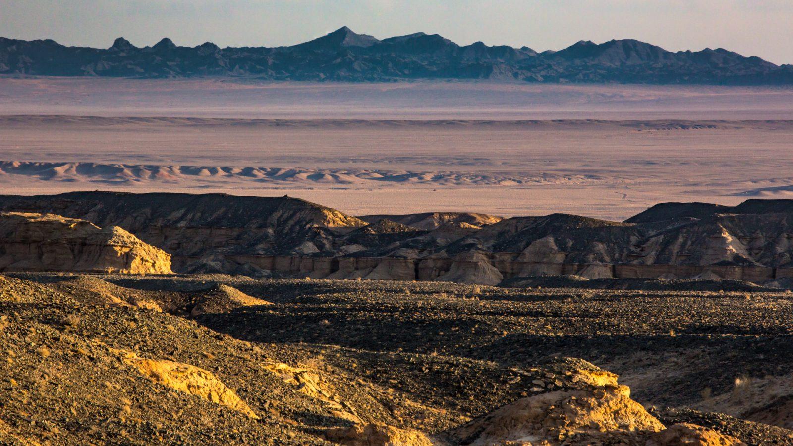 Die Landschaft der Mongolei ist vielseitig